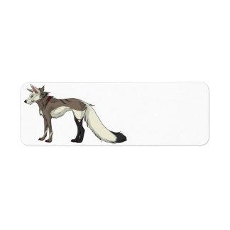 Etiquetas del lobo de la chaqueta de punto etiquetas de remite
