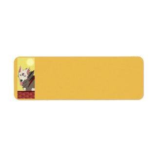 Etiquetas del lobo de la chaqueta de punto etiqueta de remitente