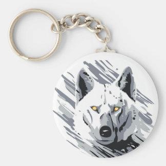 Etiquetas del lobo llavero redondo tipo pin