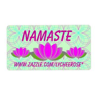 Etiquetas del loto de Namaste Etiquetas De Envío