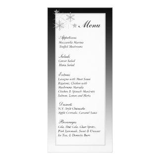 Etiquetas del menú del boda de diamante del invier lonas publicitarias