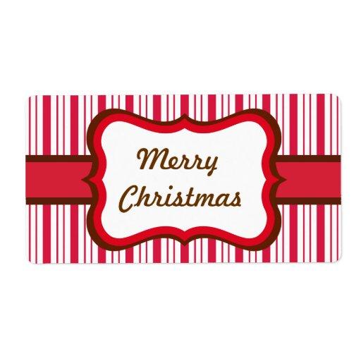 Etiquetas del navidad de la hierbabuena etiquetas de envío