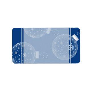 Etiquetas del navidad de las decoraciones etiquetas de dirección