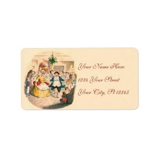 Etiquetas del navidad de una dirección del villanc etiqueta de dirección