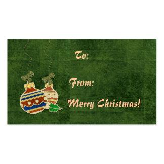 Etiquetas del navidad del ornamento tarjetas de visita