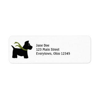 Etiquetas del navidad del perro del escocés etiquetas de remite