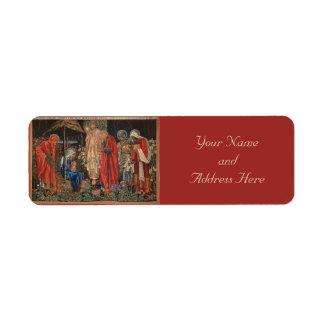 Etiquetas del navidad del Pre-Raphaelite de Jesús  Etiqueta De Remite