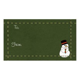Etiquetas del navidad tarjeta personal
