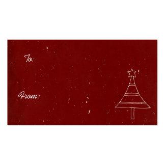 Etiquetas del navidad plantilla de tarjeta de negocio