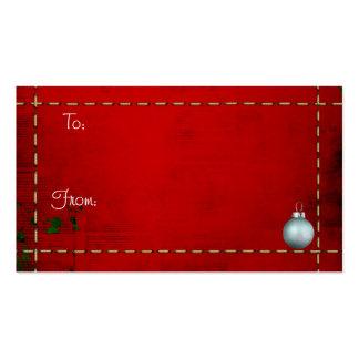Etiquetas del navidad plantilla de tarjeta personal