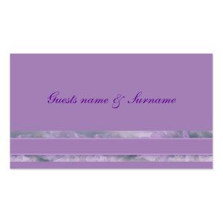 Etiquetas del nombre del asiento del boda de la tarjetas de visita