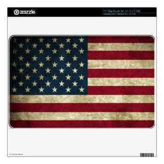 Etiquetas del ordenador portátil con la bandera su skins para elMacBook air