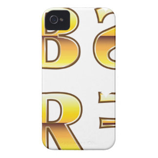 Etiquetas del oro de los SS RR FF del BB Case-Mate iPhone 4 Cárcasas