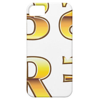 Etiquetas del oro de los SS RR FF del BB iPhone 5 Fundas