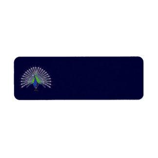 Etiquetas del pavo real etiqueta de remitente