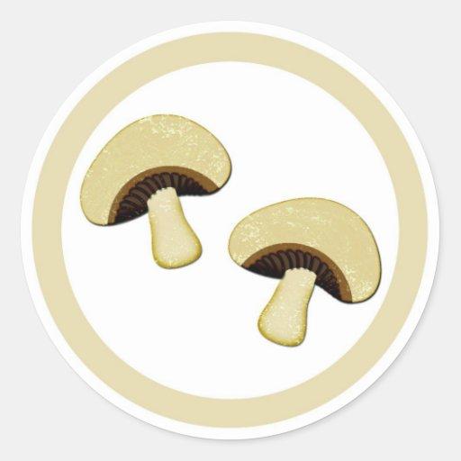 Etiquetas del pegatina del círculo del sabor de la