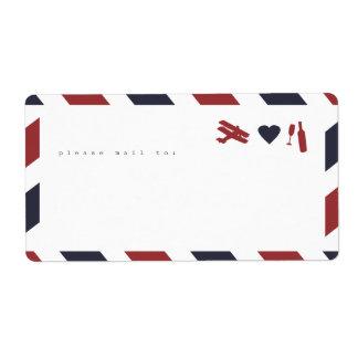 ¡Etiquetas del pegatina del correo aéreo - el Etiqueta De Envío