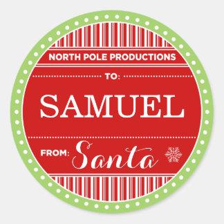 Etiquetas del pegatina del navidad de las