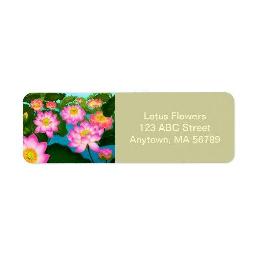 Etiquetas del personalizable del jardín de flores etiqueta de remitente