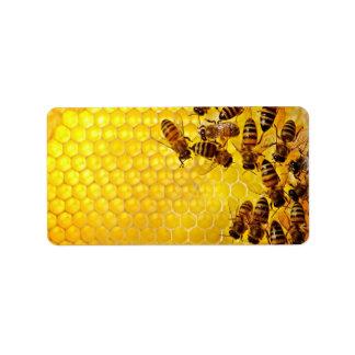 Etiquetas del personalizado del panal de la abeja etiqueta de dirección