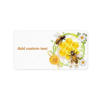Etiquetas del personalizado del panal de la abeja etiquetas de dirección