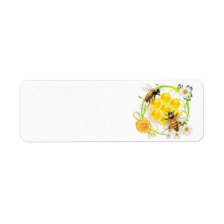 Etiquetas del personalizado del panal de la abeja etiquetas de remite