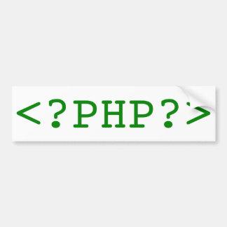 Etiquetas del PHP Etiqueta De Parachoque