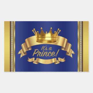 Etiquetas del príncipe botella de agua del oro del pegatina rectangular