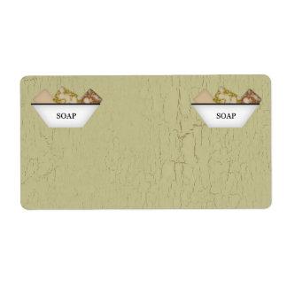 Etiquetas del producto del jabón etiquetas de envío