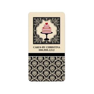 Etiquetas del producto del negocio de la panadería etiqueta de dirección