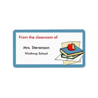 Etiquetas del profesor etiquetas de dirección