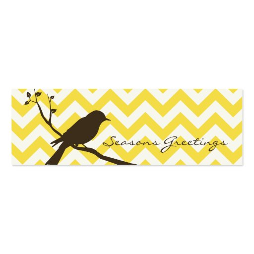 Etiquetas del regalo de Chevron del pájaro, tarjet Tarjetas De Visita