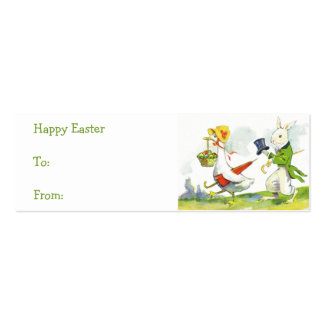 Etiquetas del regalo de la cesta de Pascua del Tarjetas De Visita Mini