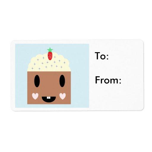 Etiquetas del regalo de la magdalena del cumpleaño etiqueta de envío