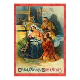 Etiquetas del regalo de la natividad del navidad tarjetas de visita grandes