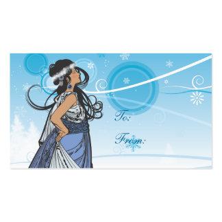 Etiquetas del regalo de la reina de la nieve tarjetas de visita