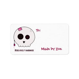 Etiquetas del regalo de la talla media del Crafter Etiqueta De Dirección