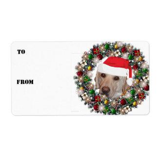 Etiquetas del regalo de Labrador del amarillo de Etiqueta De Envío