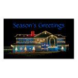 Etiquetas del regalo de las decoraciones del navid tarjetas de visita