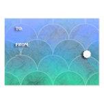 Etiquetas del regalo de las escalas de pescados de tarjeta de negocio