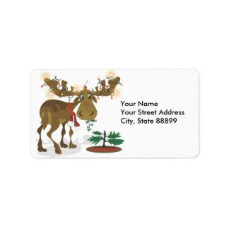 Etiquetas del regalo de las etiquetas de dirección