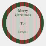 Etiquetas del regalo de las Felices Navidad