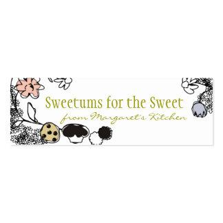 etiquetas del regalo de las flores de los dulces tarjetas de visita mini