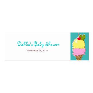 Etiquetas del regalo de las salmueras y del helado tarjetas de visita mini