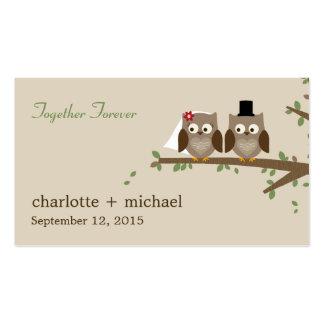 Etiquetas del regalo de los búhos del amor tarjeta de negocio