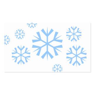 Etiquetas del regalo de los copos de nieve plantilla de tarjeta de visita