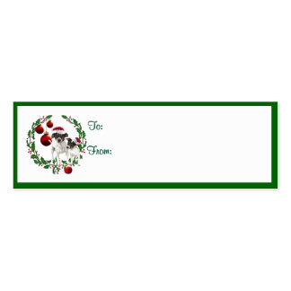 Etiquetas del regalo de los deseos del navidad del tarjetas de visita mini