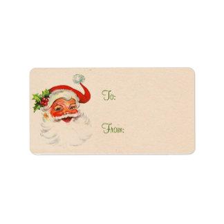 Etiquetas del regalo de Navidad de Santa Etiqueta De Dirección
