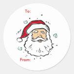 Etiquetas del regalo de Papá Noel