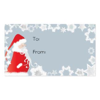 Etiquetas del regalo de Papá Noel Tarjetas De Visita